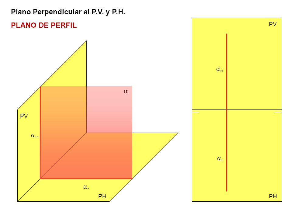 Plano Perpendicular al P.V. y P.H. PLANO DE PERFIL PV PH PV