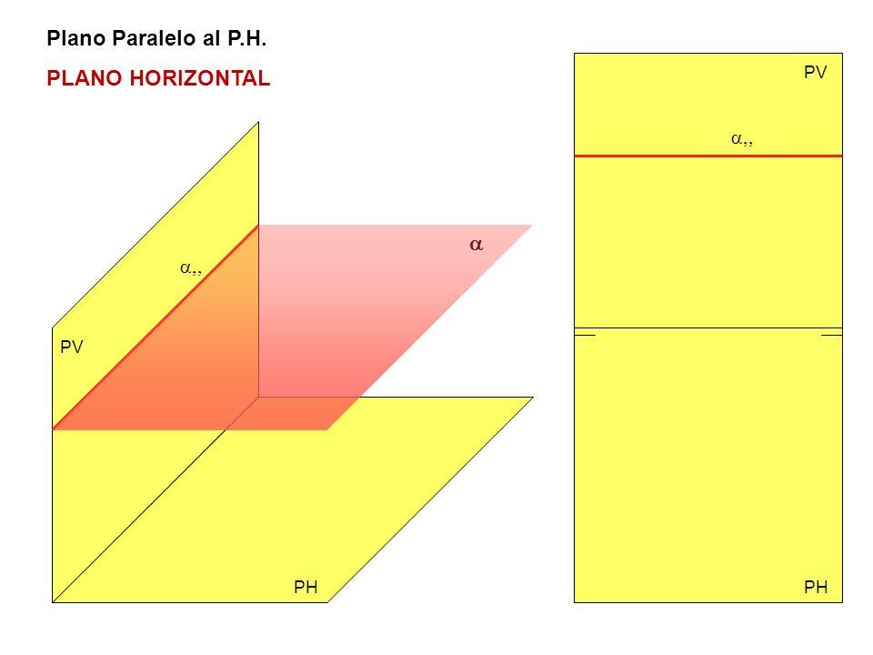 Plano Paralelo al P.H. PLANO HORIZONTAL PV PH PV