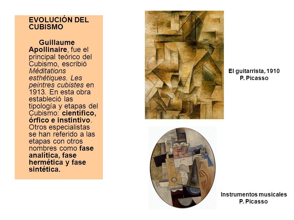 EVOLUCIÓN DEL CUBISMO Guillaume Apollinaire, fue el principal teórico del Cubismo, escribió Méditations esthétiques. Les peintres cubistes en 1913. En