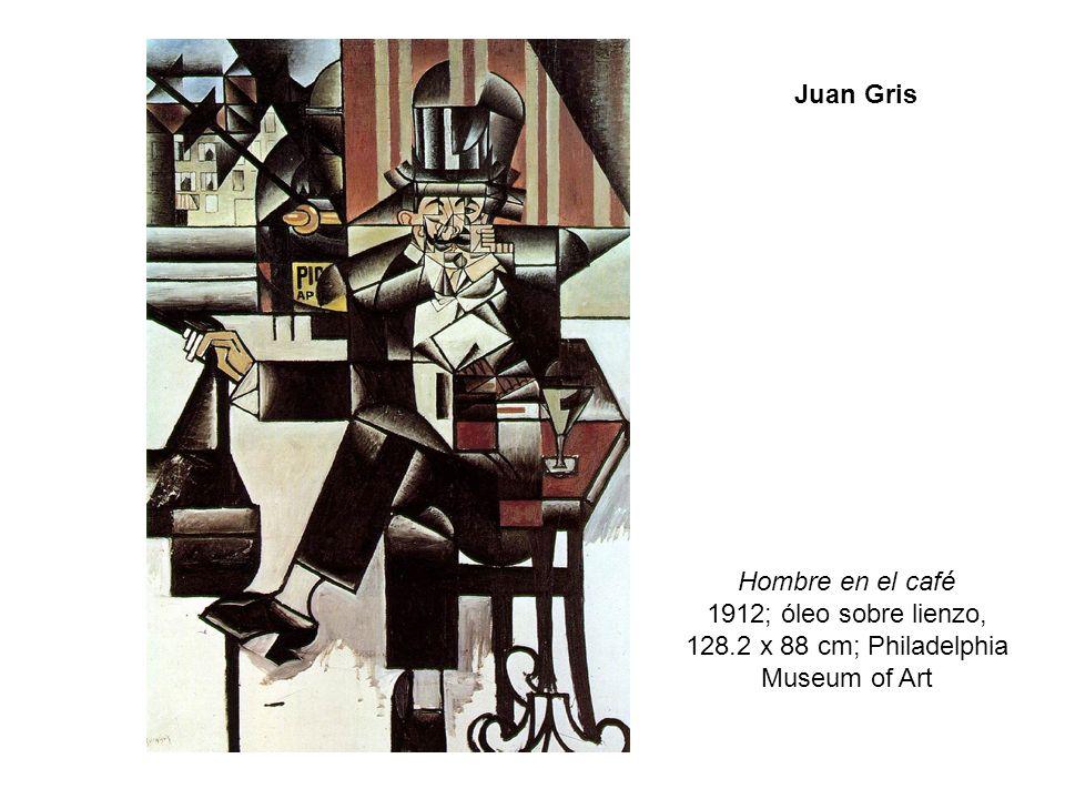 Hombre en el café 1912; óleo sobre lienzo, 128.2 x 88 cm; Philadelphia Museum of Art Juan Gris