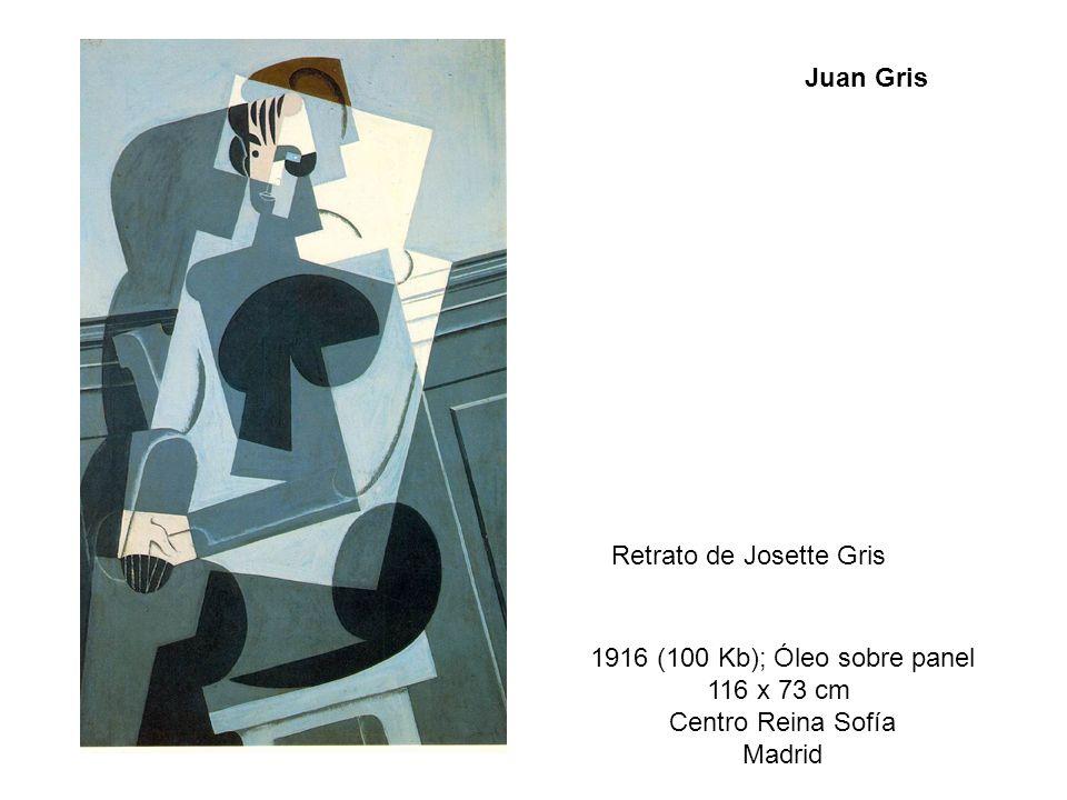 Retrato de Josette Gris 1916 (100 Kb); Óleo sobre panel 116 x 73 cm Centro Reina Sofía Madrid Juan Gris