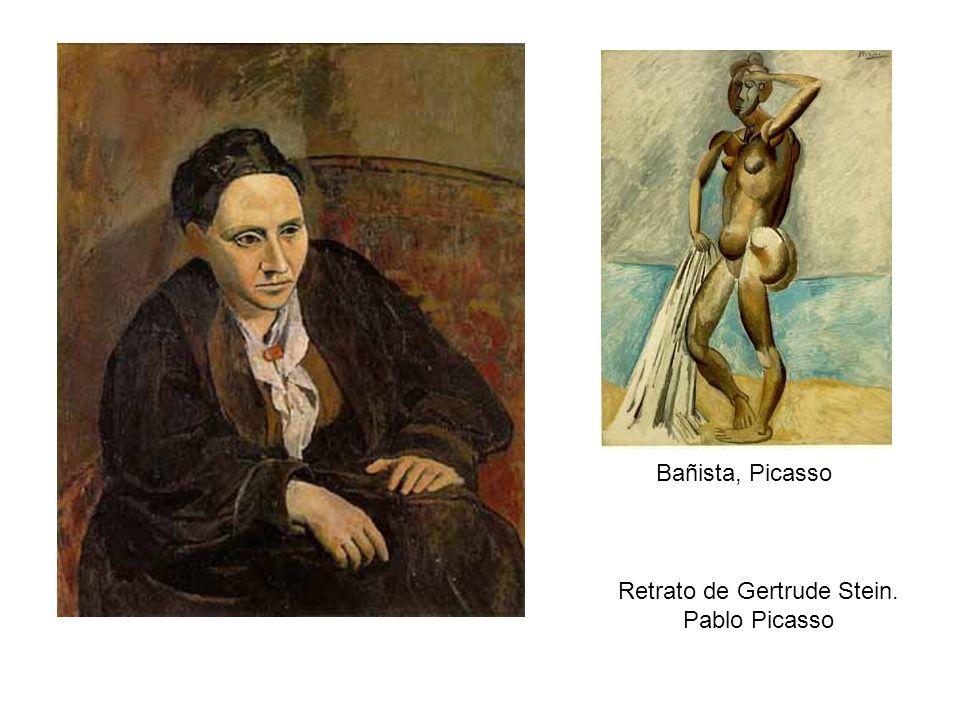 Retrato de Gertrude Stein. Pablo Picasso Bañista, Picasso