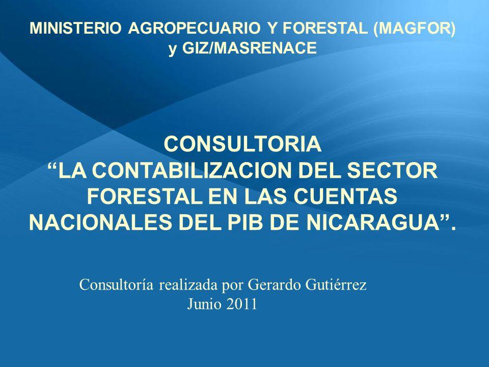CONSULTORIA LA CONTABILIZACION DEL SECTOR FORESTAL EN LAS CUENTAS NACIONALES DEL PIB DE NICARAGUA.
