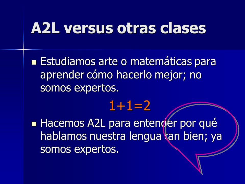 Cómo hacer A2L Los expertos dicen: Que los niños aprenden la lengua en su familia y comunidad, no en una escuela.