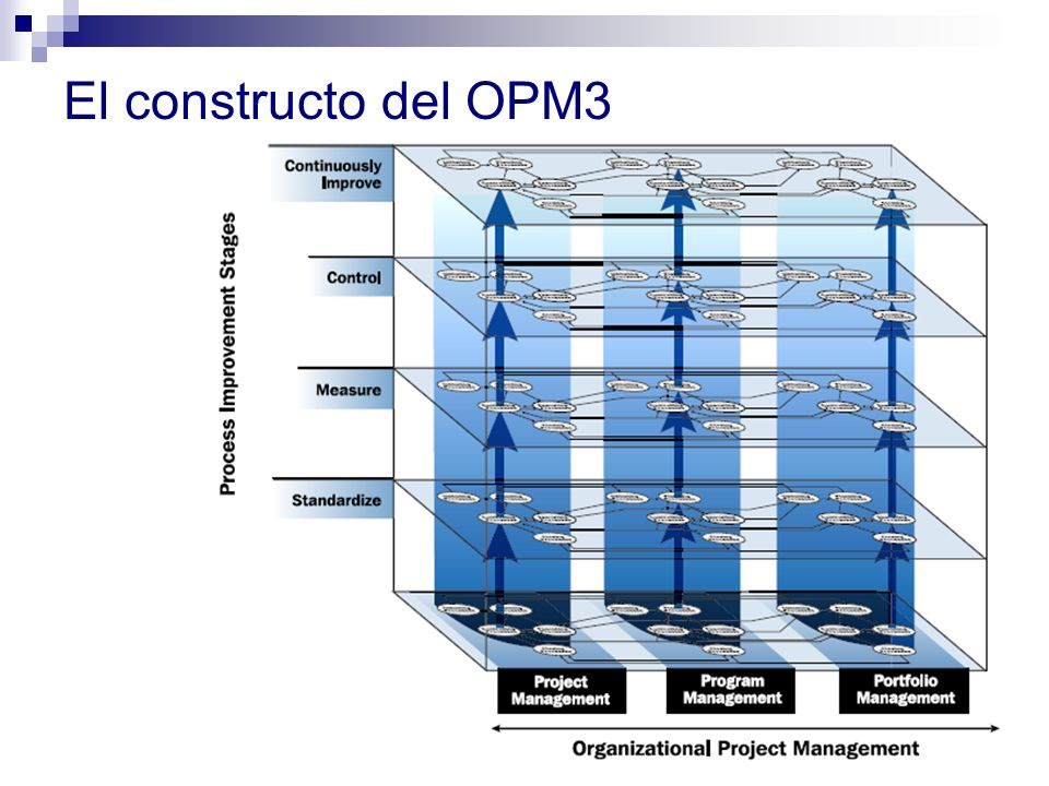 El sistema de gestión de proyectos de la organización Fuente.