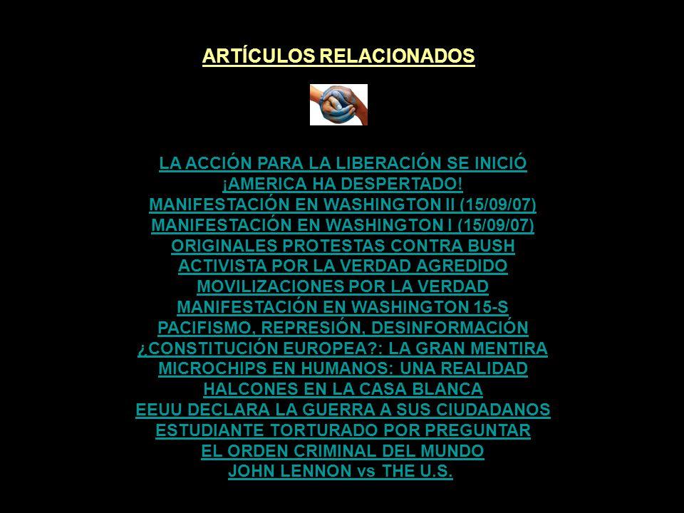 ARTÍCULOS RELACIONADOS VOCES I: EDUARDO GALEANO Y NOAM CHOMSKY EL CUENTO DEL REBAÑO HUMANO VOCES CONTRA LA GLOBALIZACIÓN LAS MENTIRAS EN LAS QUE CREEMOS FREEDOM NEXT TIME - JOHN PILGER LA ROSA DE LOS VIENTOS EN ONDA CERO EL IMPACTO DE LOS MEDIOS LOS MEDIOS AL SERVICIO LA FALSA DEMOCRACIA EL CUENTO DEL REBAÑO HUMANO FELIZ AÑO NUEVO - JUNTOS PODEMOS VOCES IX: ARCADI OLIVERES VOCES VIII: PEDRO CASALDÁLIGA VERDADES INCÓMODAS #4 MOVIMIENTO CODEPINK POR LA VERDAD