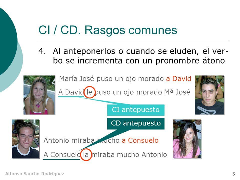 Alfonso Sancho Rodríguez 4 CI / CD. Rasgos comunes 3.Cuando concurren, el orden en que aparecen es indiferente Entregaestos documentosal Secretario CD