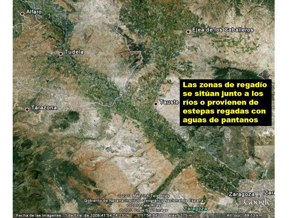 Embalse de La Loteta, situado cerca de Gallur abastece de agua a Zaragoza y su entorno.