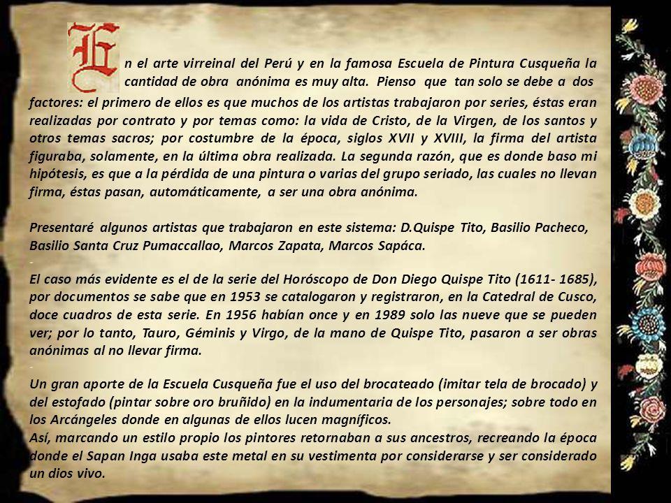Anónimos y Atribuidos en el Arte Virreinal del Perú Presentación Nº 66 Gabriela Lavarello Vargas de Velaochaga- Perú - marzo 2012 La adoración de los