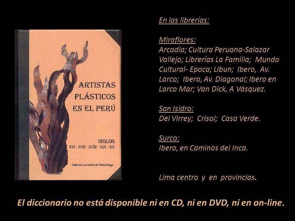 Artistas que figura en el diccionario Carátula, escultura de Armando Varela Neyra Lima - Perú Representante de Ventas MARTA COUTO REVOLLEDO 441-3238 -