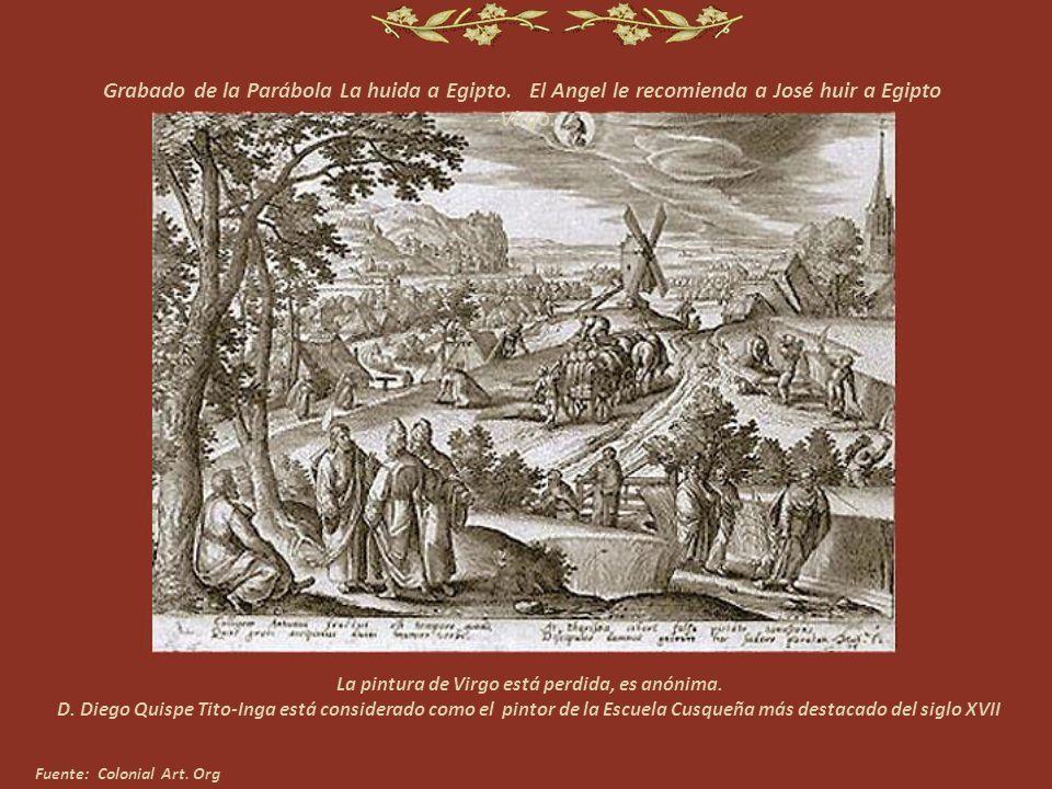 Grabado de la Parábola Cristo y la mujer de Samaria-- Géminis La pintura de Géminis está desaparecida, es anónima
