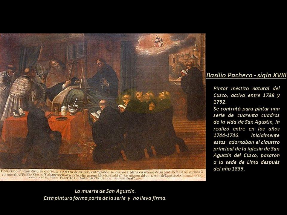 La muerte de San Agustín.Esta pintura forma parte de la serie y no lleva firma.