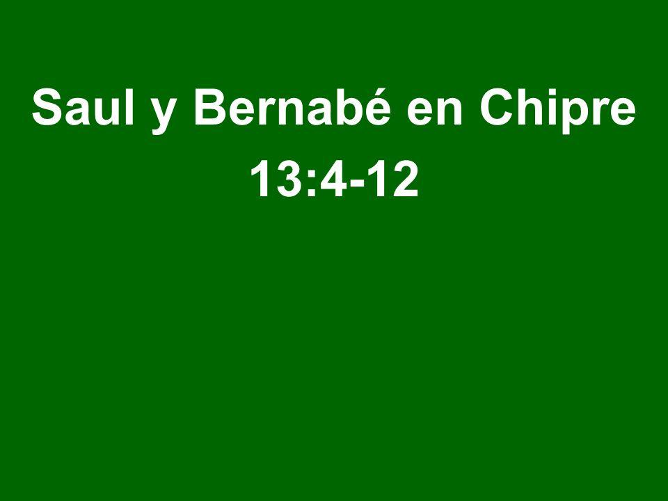 Saul y Bernabé en Chipre 13:4-12