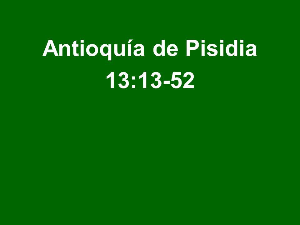 Antioquía de Pisidia 13:13-52