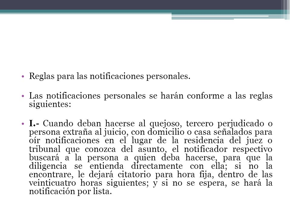 Las notificaciones a las autoridades responsables se harán en el domicilio principal donde estén ubicadas en sus oficinas.