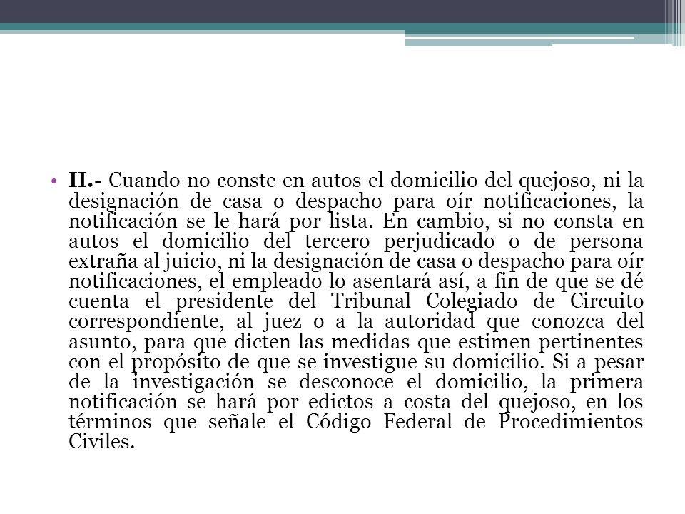 NOTIFICACIONES, INCIDENTE DE NULIDAD DE.
