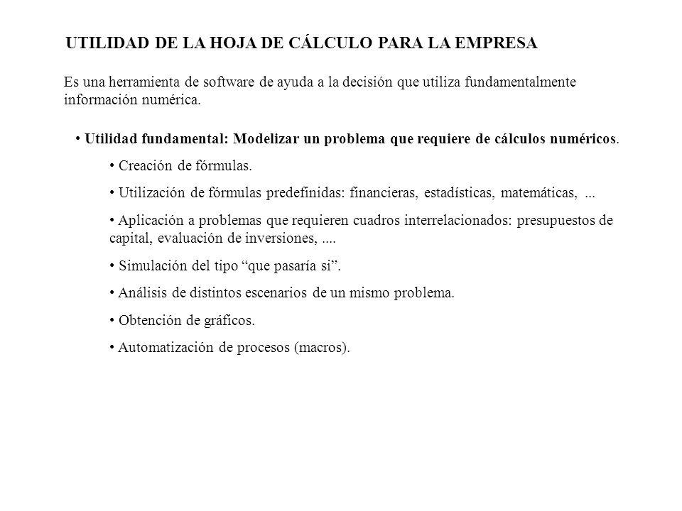 OTRAS UTILIDADES DE LA HOJA DE CÁLCULO Proceso: VER, BARRA DE HERRAMIENTAS, CUADRO DE CONTROLES.
