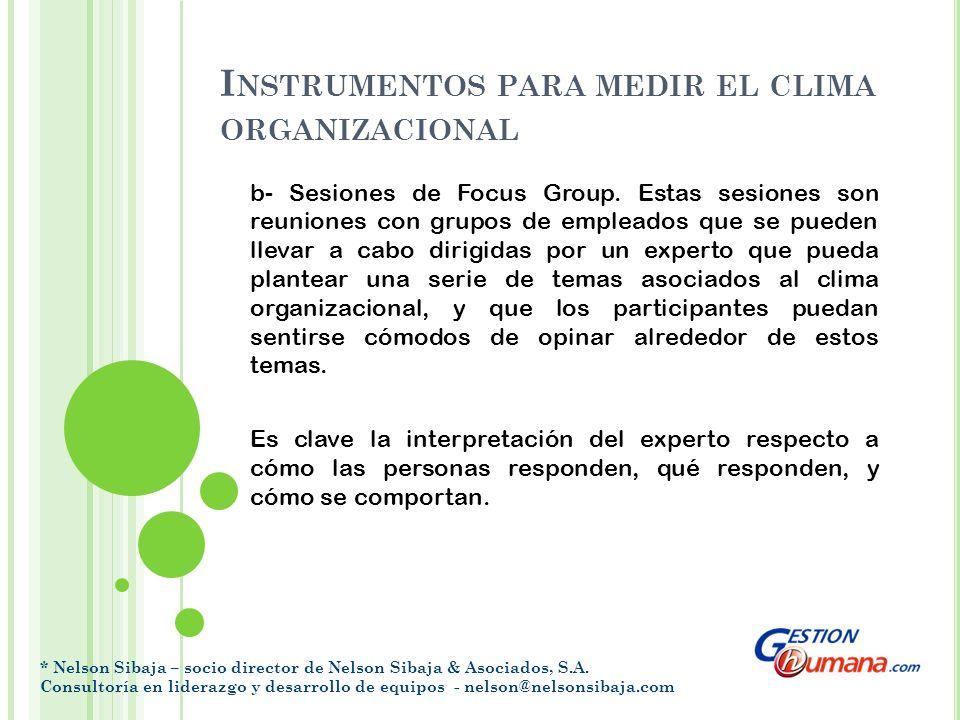 I NSTRUMENTOS PARA MEDIR EL CLIMA ORGANIZACIONAL c- Buzones de opinión y sugerencias.
