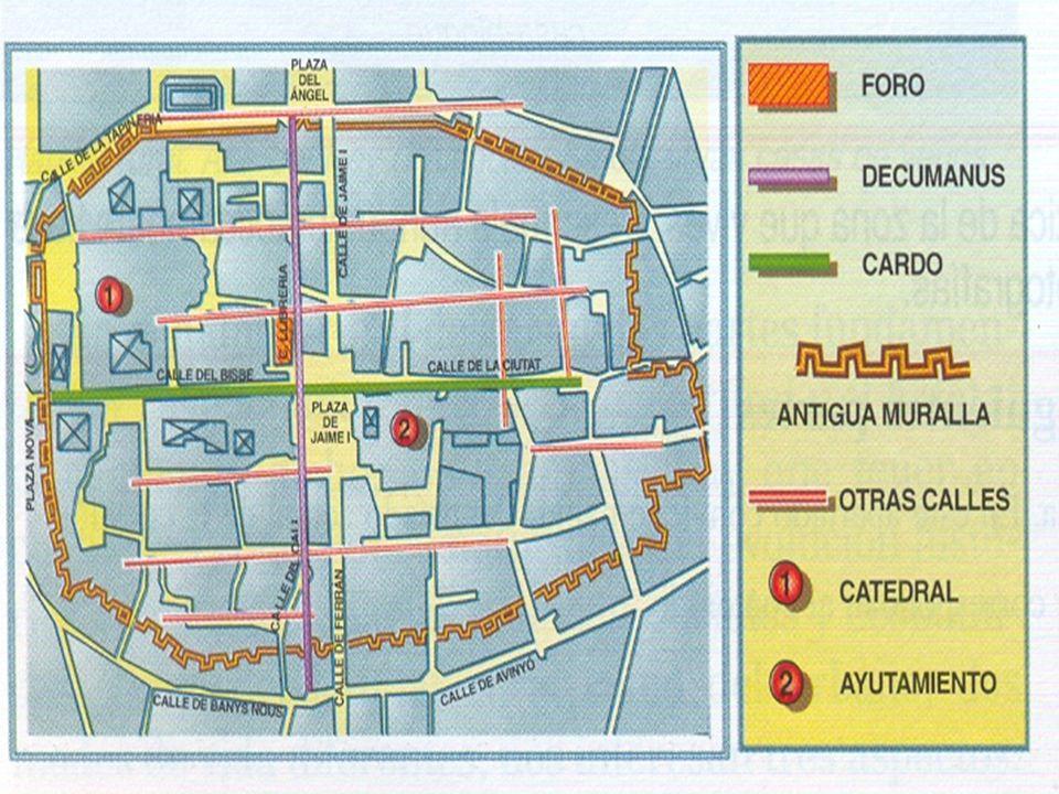 LA URBANIZACIÓN PREINDUSTRIAL Muchas ciudades españolas tienen un origen romano.
