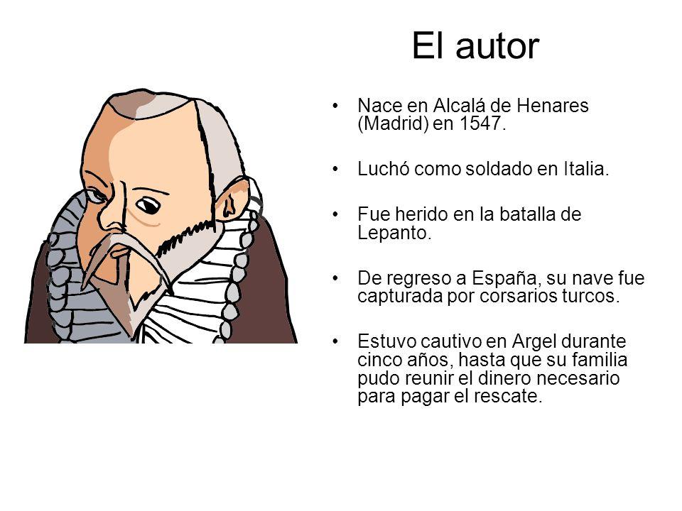 El autor Nace en Alcalá de Henares (Madrid) en 1547. Luchó como soldado en Italia. Fue herido en la batalla de Lepanto. De regreso a España, su nave f