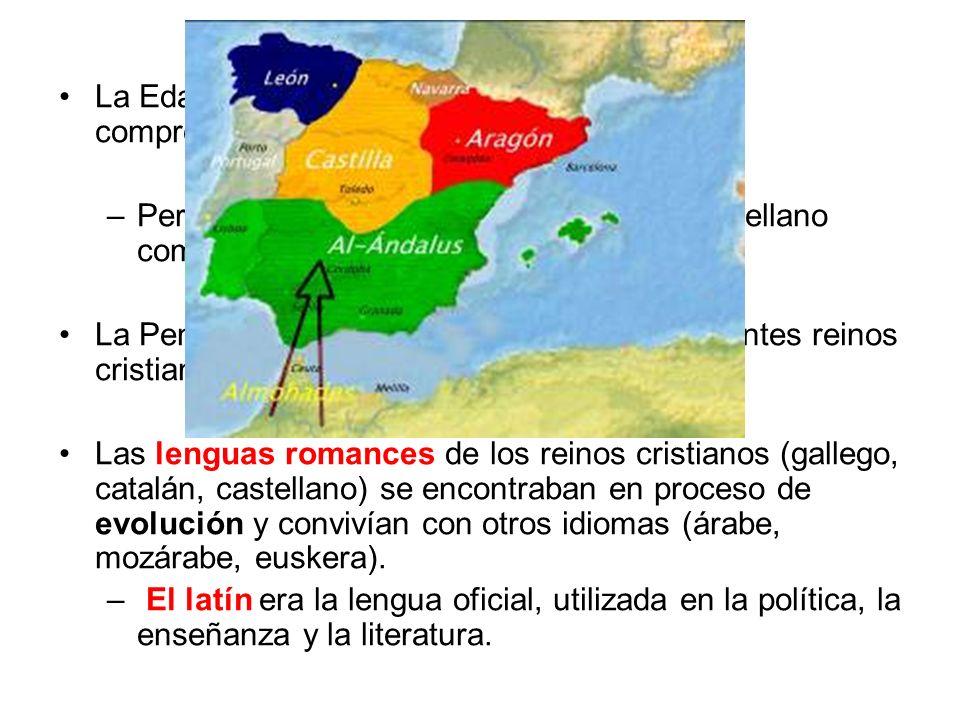 La Edad Media es un largo periodo histórico comprendido entre el s. V y el s. XV. –Pero la literatura medieval escrita en castellano comienza en el s.