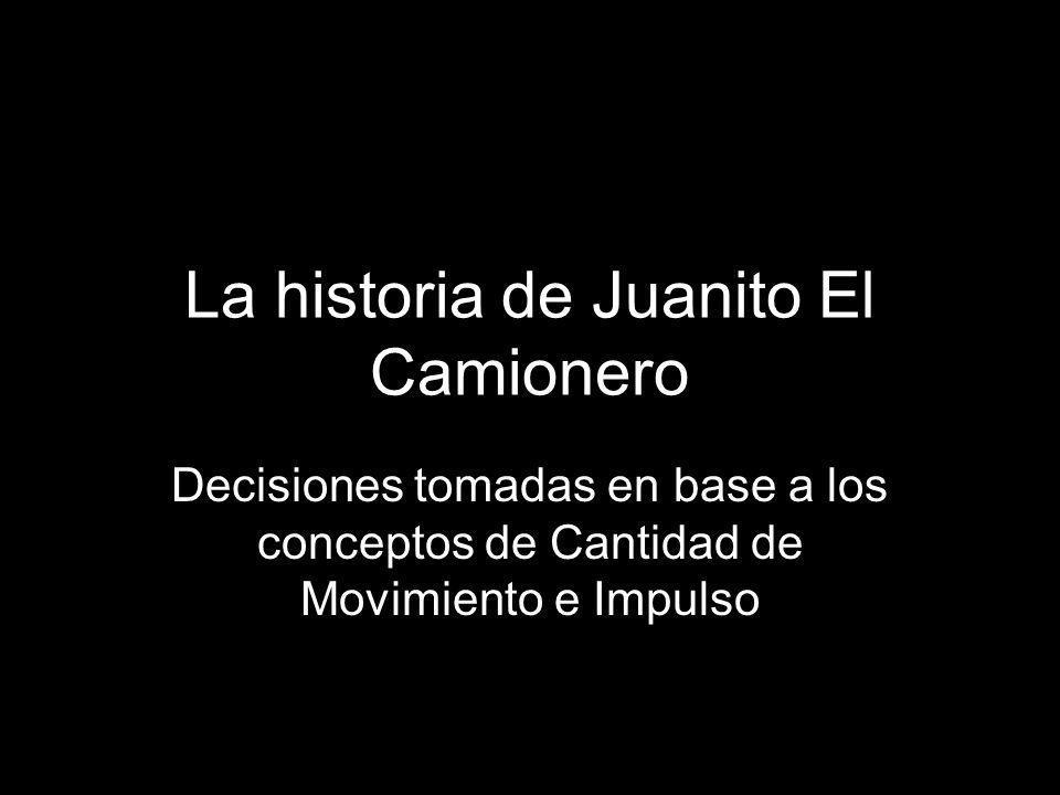 La historia de Juanito El Camionero Decisiones tomadas en base a los conceptos de Cantidad de Movimiento e Impulso