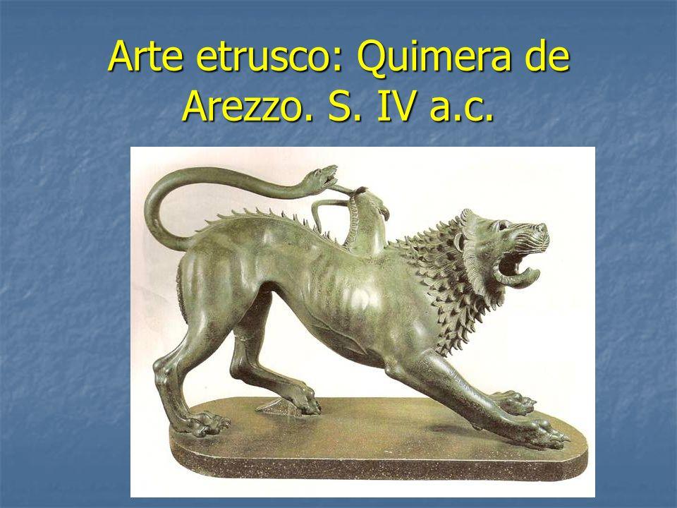 Arte etrusco: Quimera de Arezzo. S. IV a.c.