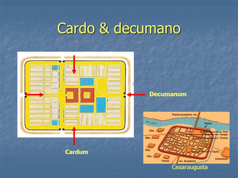 Cardo & decumano Cardum Decumanum Cesaraugusta