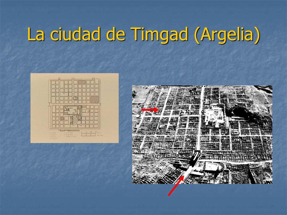 La ciudad de Timgad (Argelia)