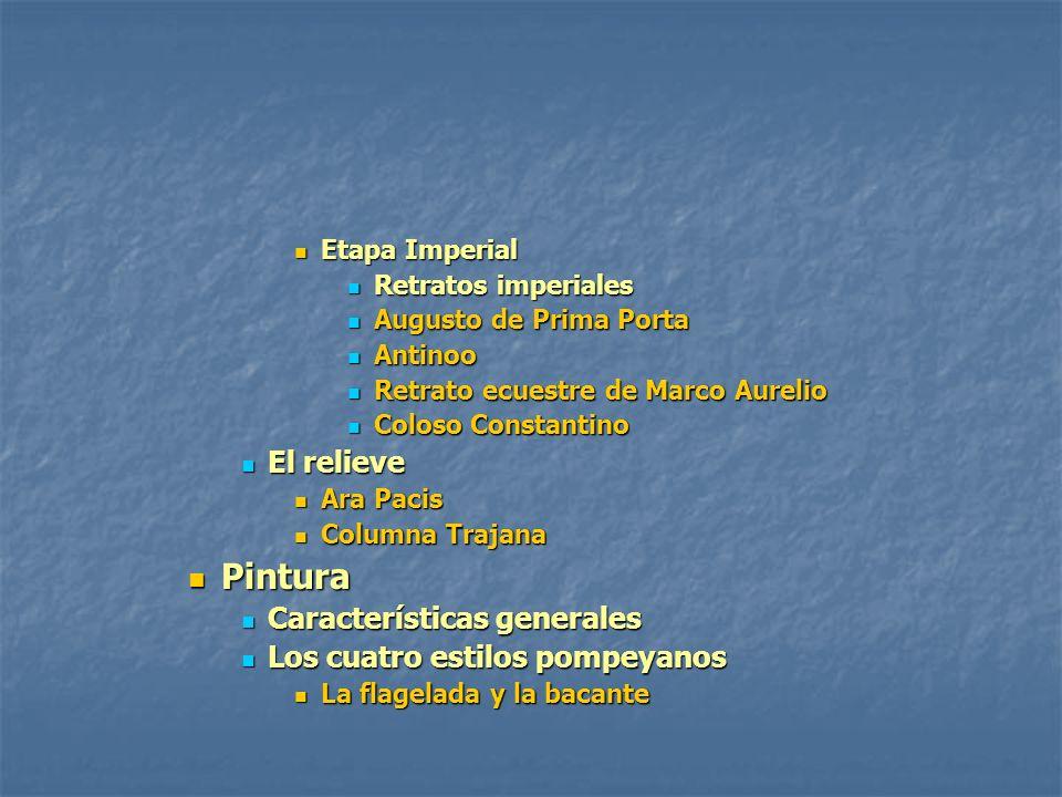 Etapa Imperial Etapa Imperial Retratos imperiales Retratos imperiales Augusto de Prima Porta Augusto de Prima Porta Antinoo Antinoo Retrato ecuestre d
