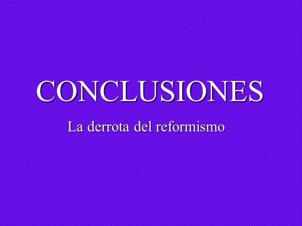 CONCLUSIONES La derrota del reformismo