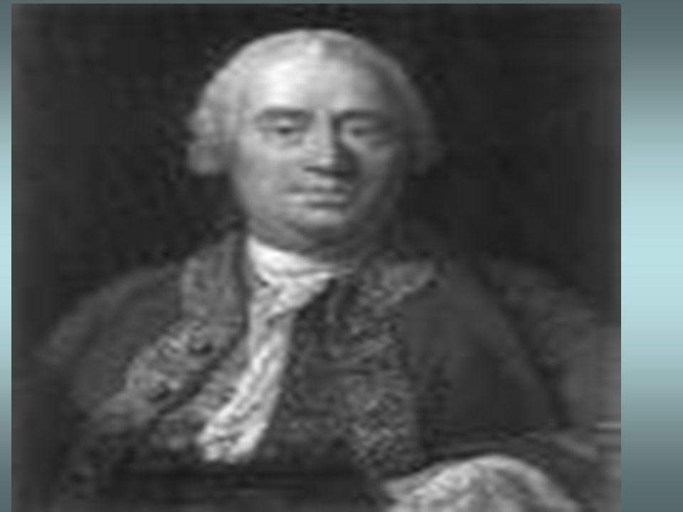 HUME, David (1711-1776) Se llega a las leyes cientìficas solo cuando la experiencia probò su certeza. No tienen caràcter universal. Los cuerpos son gr