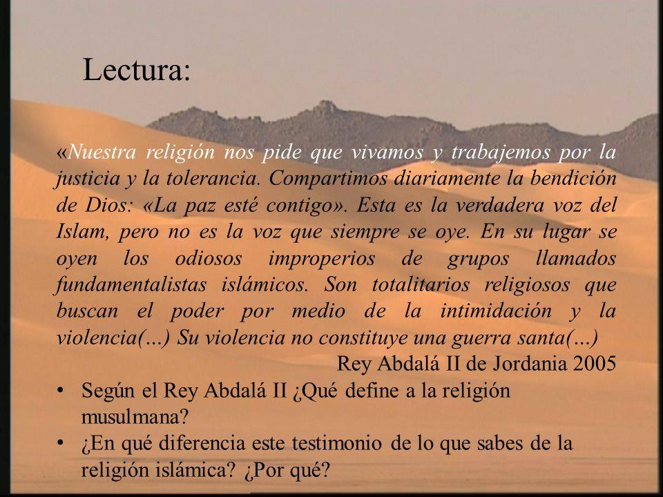 «Nuestra religión nos pide que vivamos y trabajemos por la justicia y la tolerancia. Compartimos diariamente la bendición de Dios: «La paz esté contig