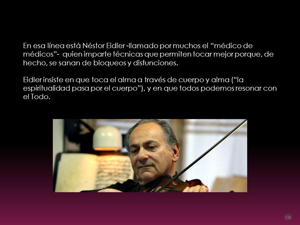 RESONANCIAS Néstor Eidler, músico y pedagogo vibracional El universo es una caja de música, explica Eidler, pues está construida en proporciones equiv