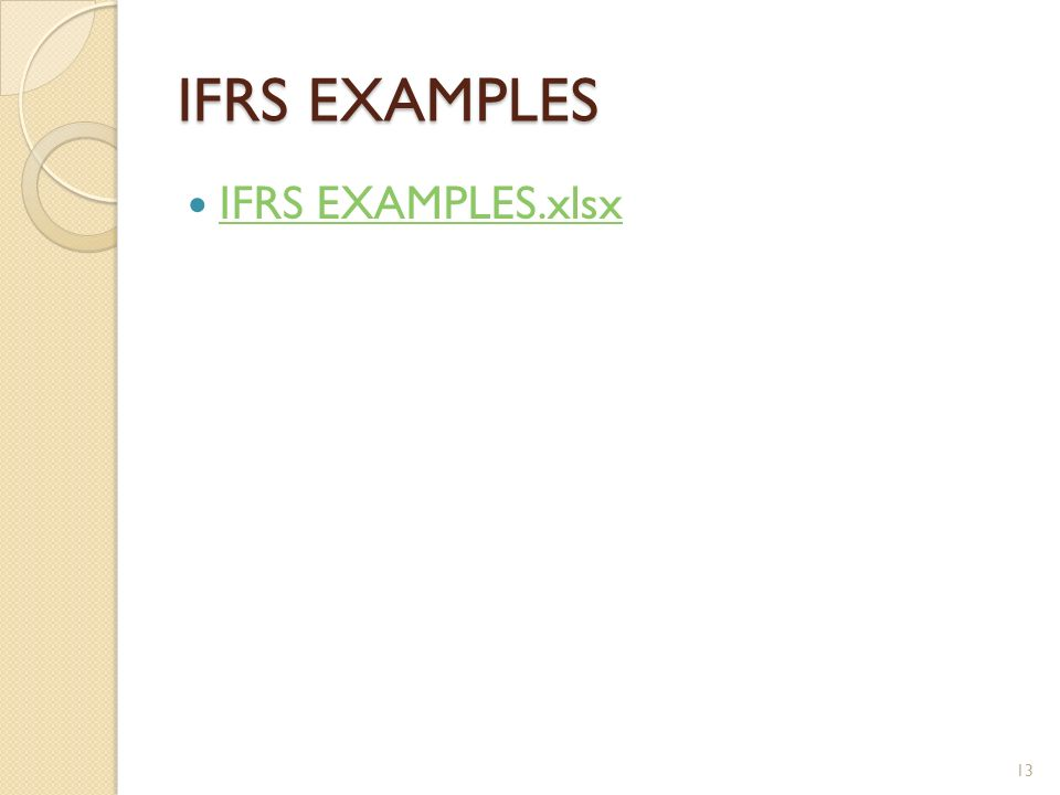 IFRS EXAMPLES IFRS EXAMPLES.xlsx 13