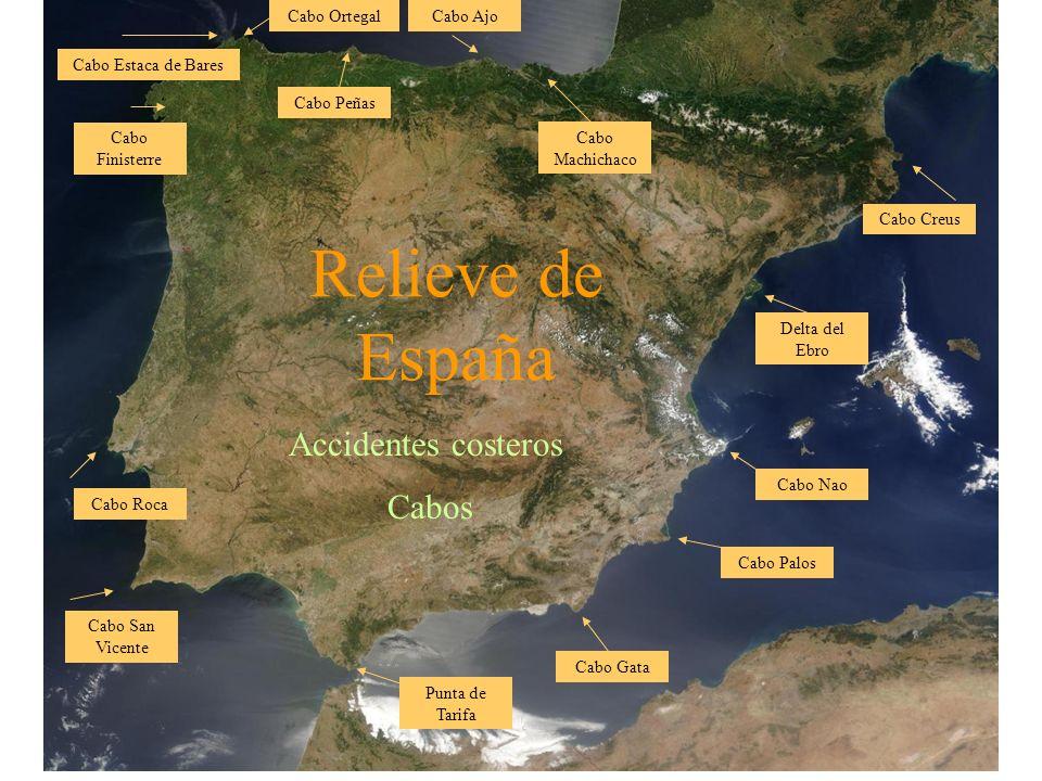Relieve de España Accidentes costeros Golfos Golfo de Vizcaya Golfo de Cádiz Golfo de Almería Golfo de Mazarrón Golfo de San Jordi Golfo de Rosas Golfo de Valencia