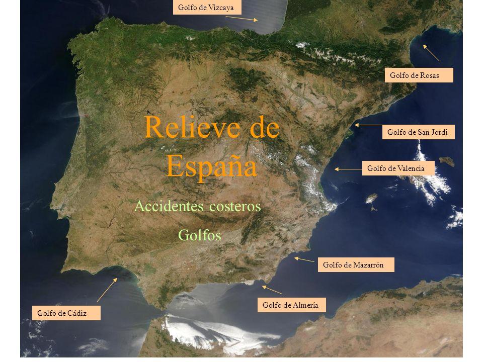 Relieve de España LAS ISLAS Existen dos grandes archipiélagos: El Archipiélago Balear: Mallorca, Menorca, Ibiza, Formentera y Cabrera.