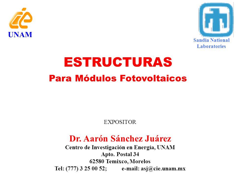 Seguidor Pasivo Solar, con Módulos, Mca. TRACK RACK Estructuras UNAM