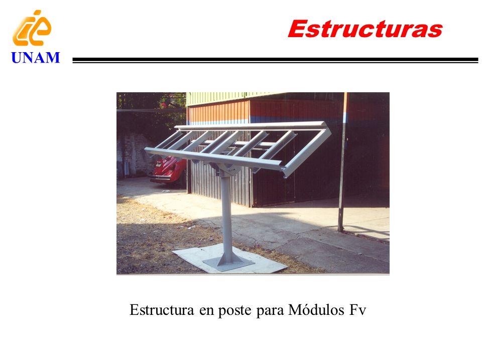 Estructuras UNAM Estructura en poste para Módulos Fv