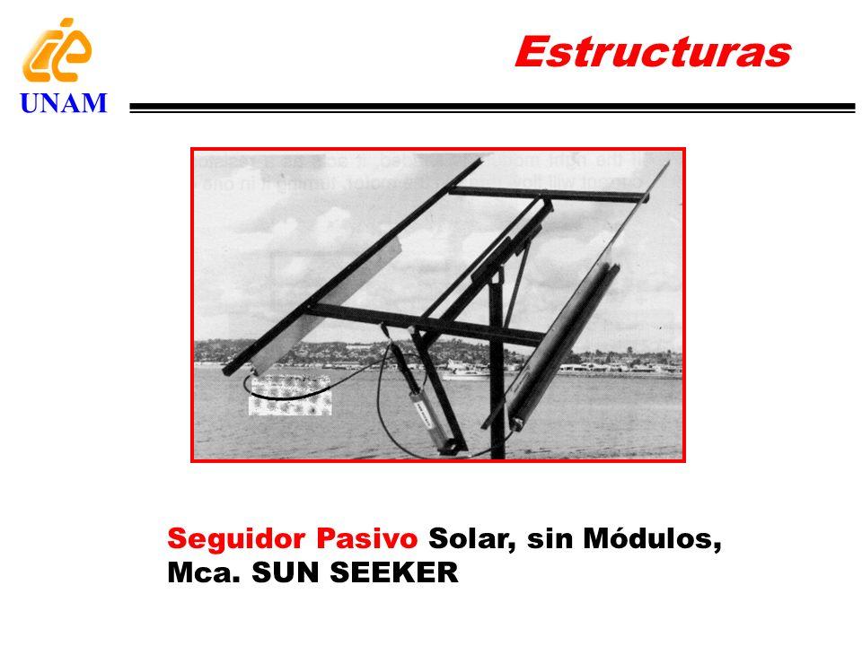 Seguidor Pasivo Solar, sin Módulos, Mca. SUN SEEKER Estructuras UNAM