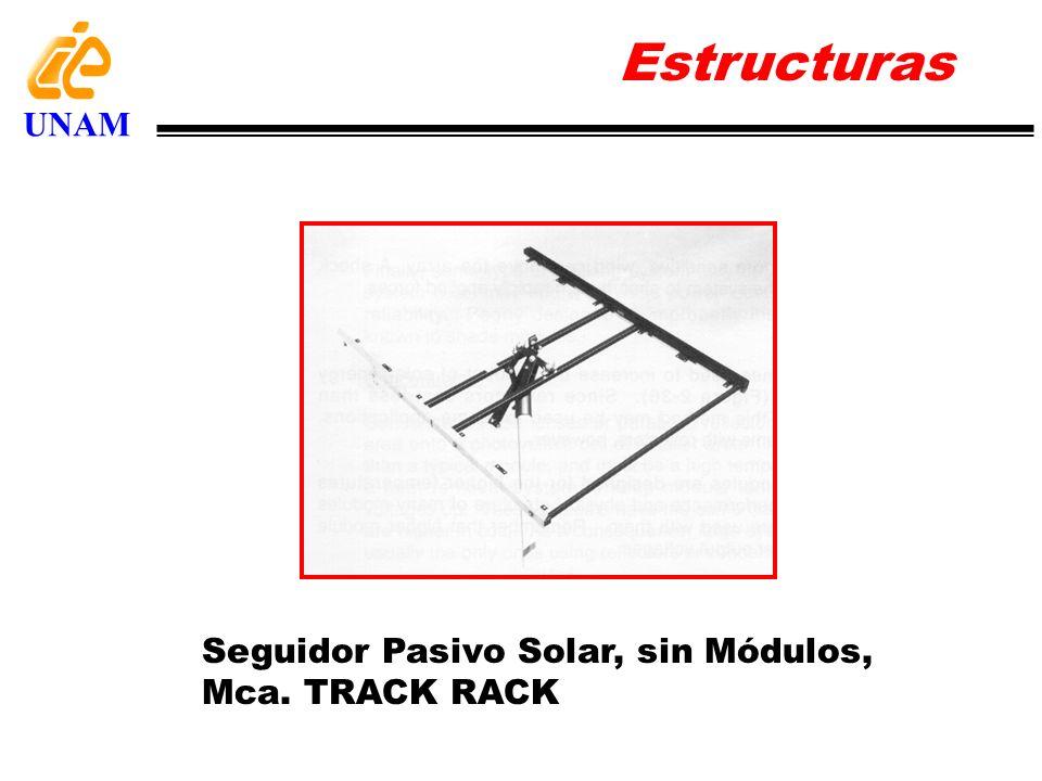 Seguidor Pasivo Solar, sin Módulos, Mca. TRACK RACK Estructuras UNAM