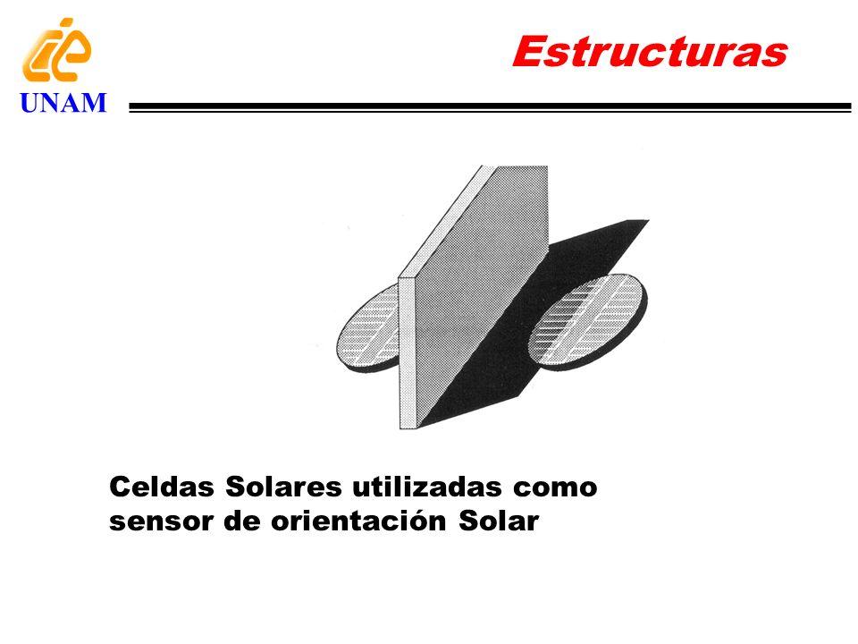 Celdas Solares utilizadas como sensor de orientación Solar Estructuras UNAM