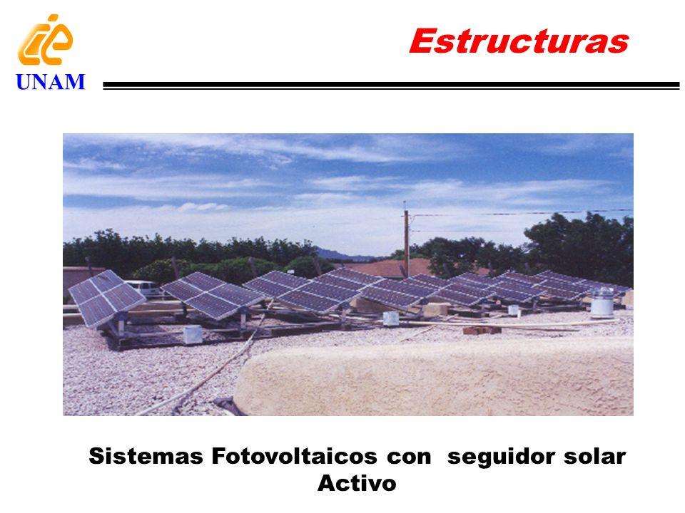 Sistemas Fotovoltaicos con seguidor solar Activo Estructuras UNAM