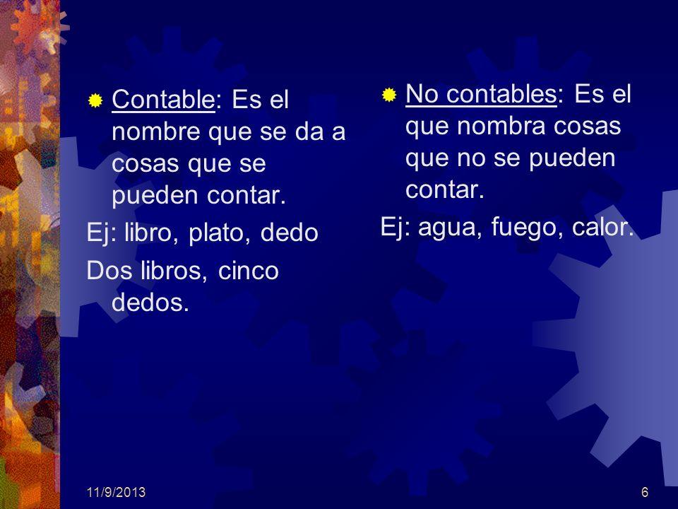 11/9/20137 Lista de Sustantivos Colectivos Uvas= Barco= Rosa= Isla= Espárrago= Jugador Mil años Cien años =