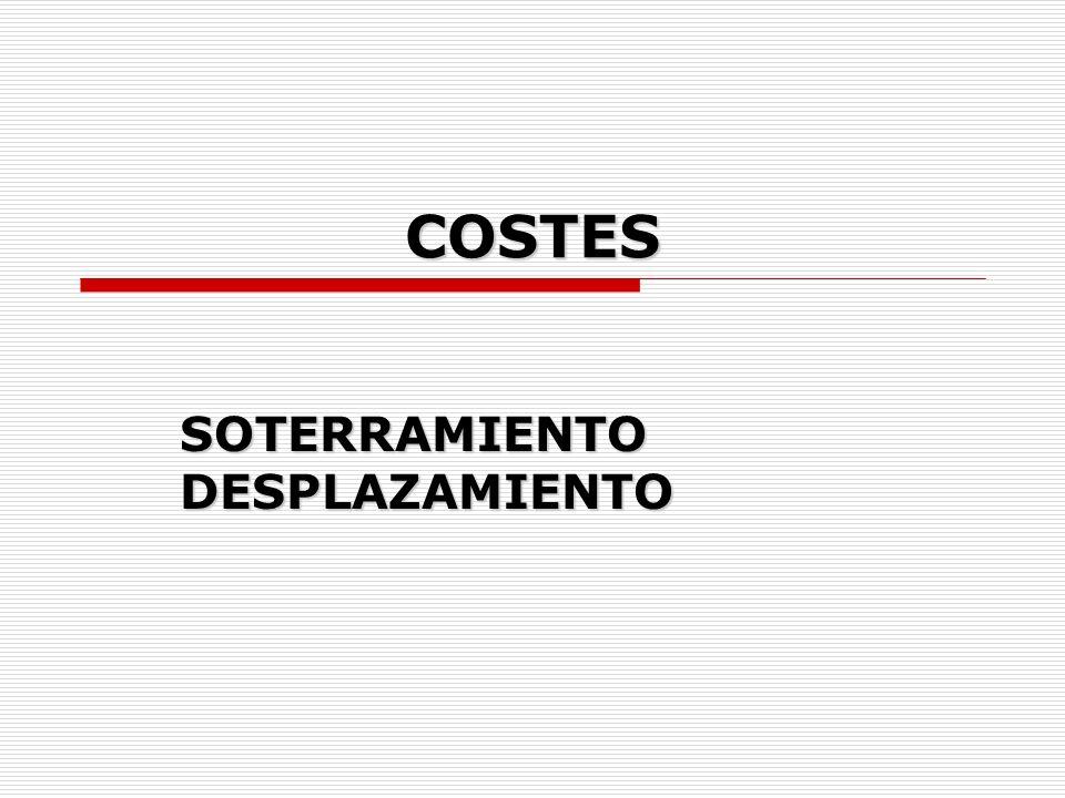 COSTES SOTERRAMIENTO DESPLAZAMIENTO
