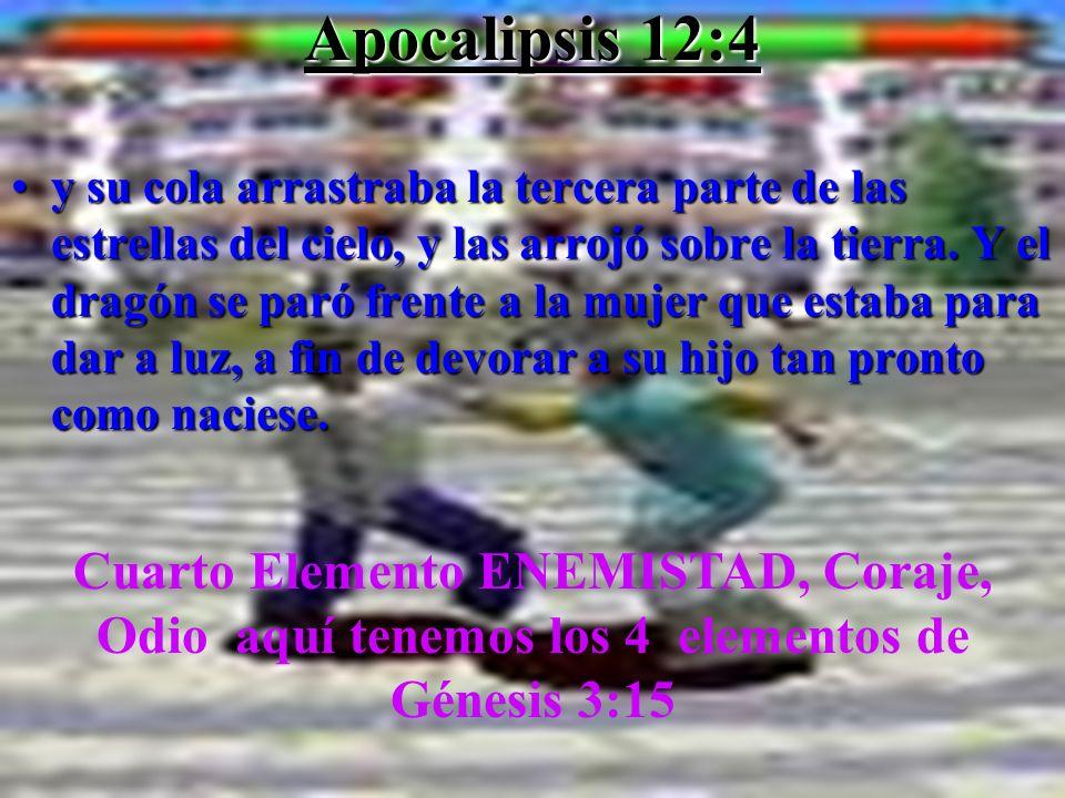 Apocalipsis 12:4 ysu cola arrastraba la tercera parte de las estrellas del cielo, y las arrojó sobre la tierra. Y el dragón se paró frente a la mujer