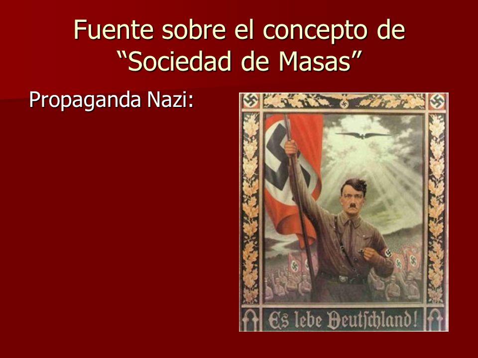 Fuente sobre el concepto de Sociedad de Masas Propaganda Nazi: