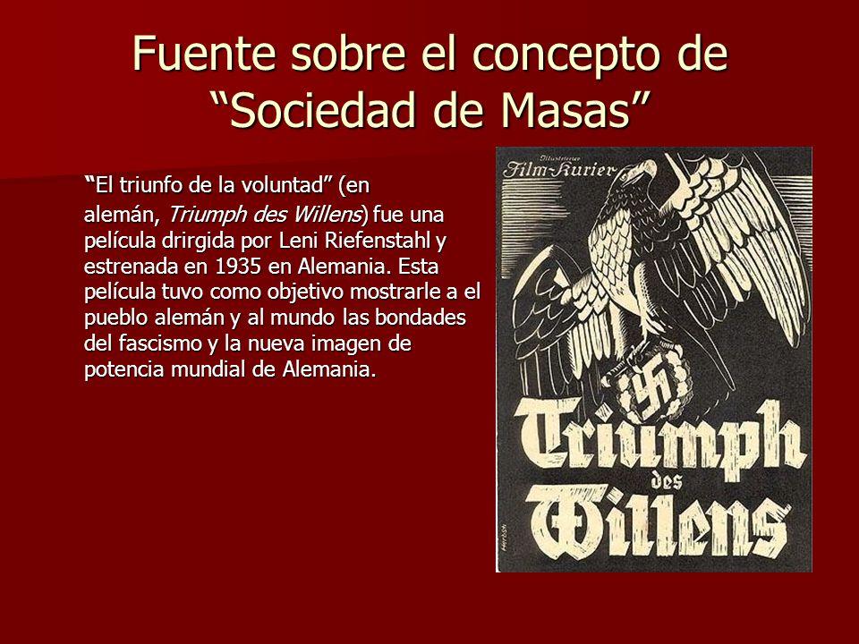El triunfo de la voluntad (en alemán, Triumph des Willens) fue una película drirgida por Leni Riefenstahl y estrenada en 1935 en Alemania. Esta pelícu