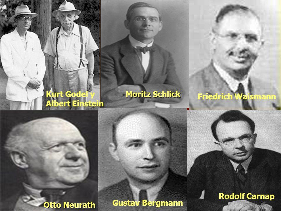 Kurt Godel y Albert Einstein Moritz Schlick Otto Neurath Friedrich Waismann Rodolf Carnap Gustav Bergmann