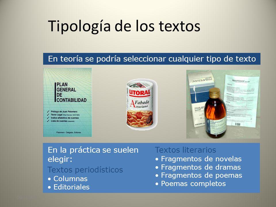 09/11/20131 El comentario crítico Tercera pregunta de las Pruebas de Acceso a la Universidad en Andalucía